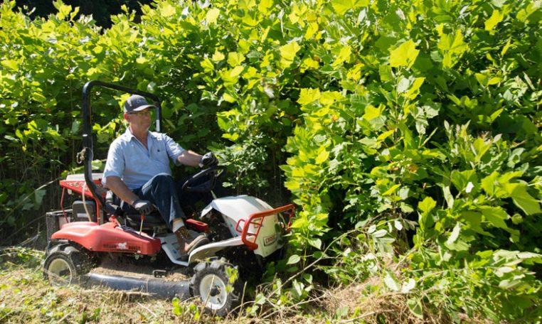 riding brush mower thick brush