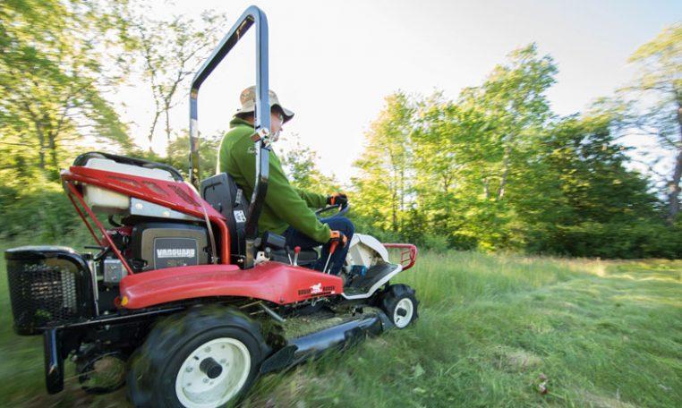 Mowing a field