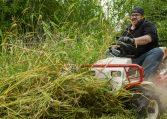 riding brush mower tall grass