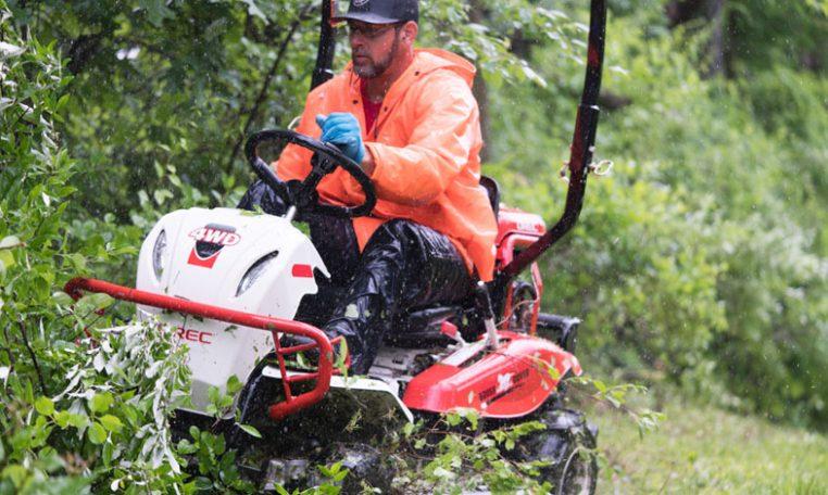 Brush Rover clearing thick brush